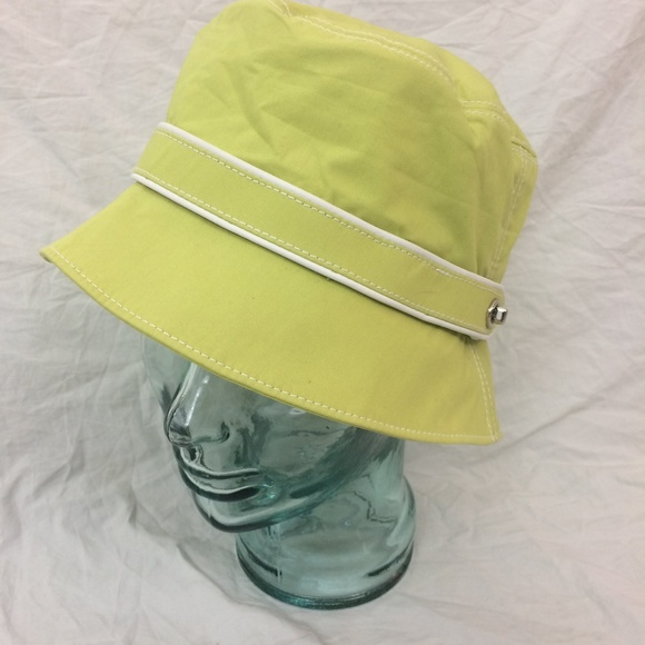 cefee8ea1aa Coach Accessories - Coach Green 100% Cotton Bucket Hat Sz M L